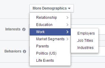 work and employee targeting Facebook