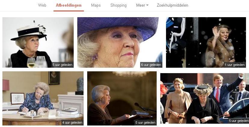 resultaten Google images koningin Beatrix