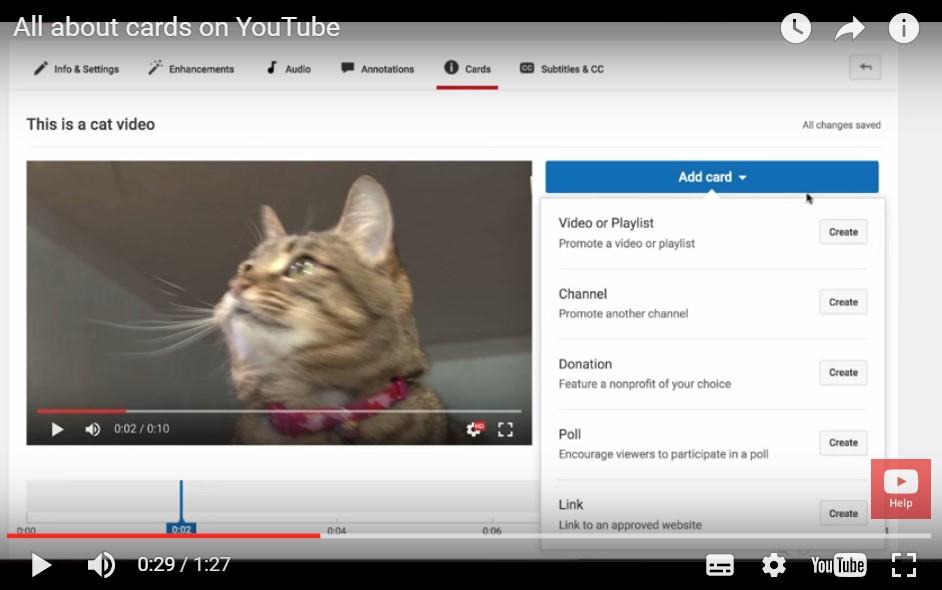 Youtube interactie voorbeeld