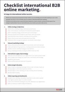 Checklist optimisation international B2B online marketing